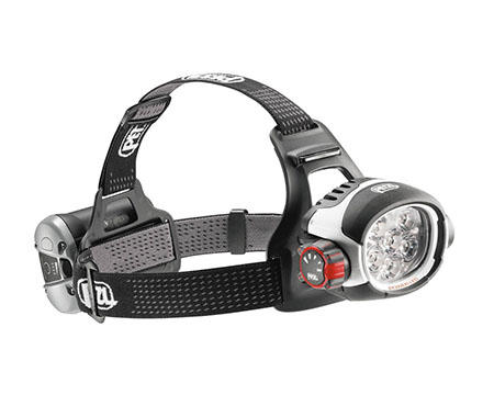 Princeton Tec Quad Headlamp Ultrabright LED Torch Running Climbing Black Case