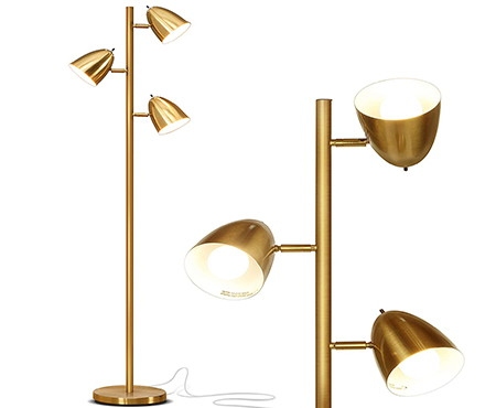 brightech Jacob led reading and living floor lamp