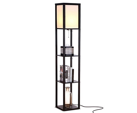 brightech maxwell led shelf floor lamp