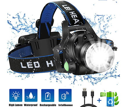 JLANG LED Headlamp IPX4 Waterproof Headlight