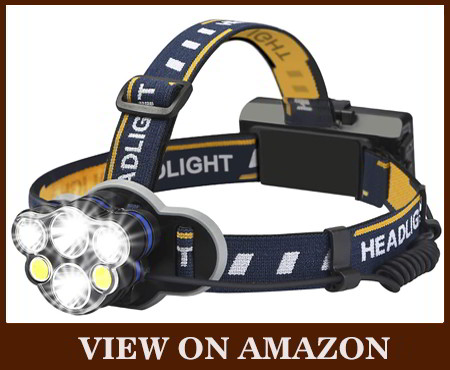 ELMCHEE rechargeable 6 LED 8 modes headlamp