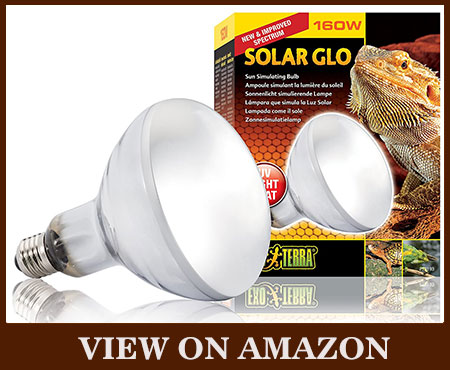 EXO TERRA Solar-Glo high-intensity UV heat Mercury Vapor Lamp