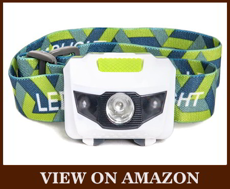 LED flashlight water and shock resistant headlamp