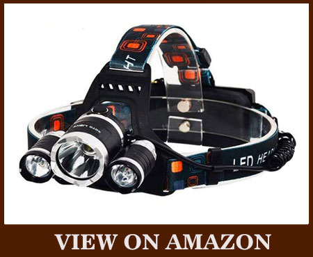 Lamp-Wick Rechargeable Bright LED Hunting Headlamp