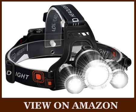 Rechargeable 10000 Lumens Portable LED Headlamp
