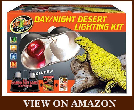ZOO MED Day/Night Desert Lighting Kit Heat Lamp