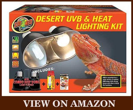 ZOO MED Desert UVB & Lighting Dual Kit Heat Lamp