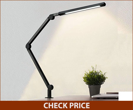 Eye-Care Swing Arm Desk Lamp with Clamp