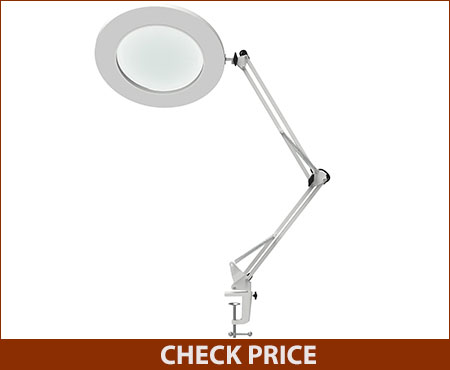 YOUKOYI Metal Swing Arm Magnifier Lamp